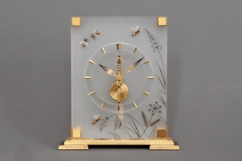 Jaeger Lecoultre mid century Swiss Jewelled Clock