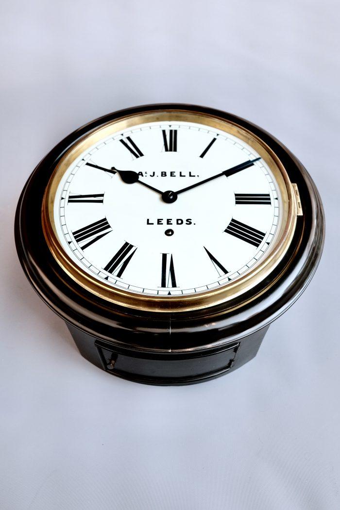 Antique Ebonised dial clock