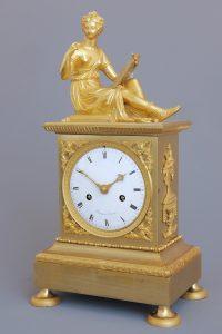 Antique ormulu mantel clock