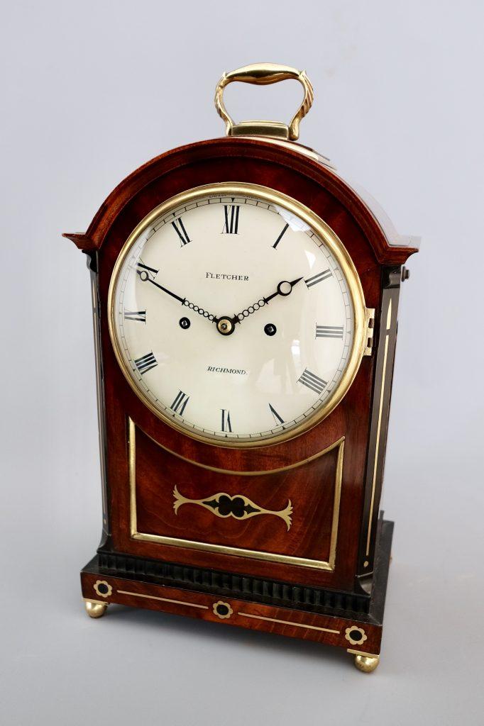 Regency Mahogany Striking Bracket Clock The Clock Clinic