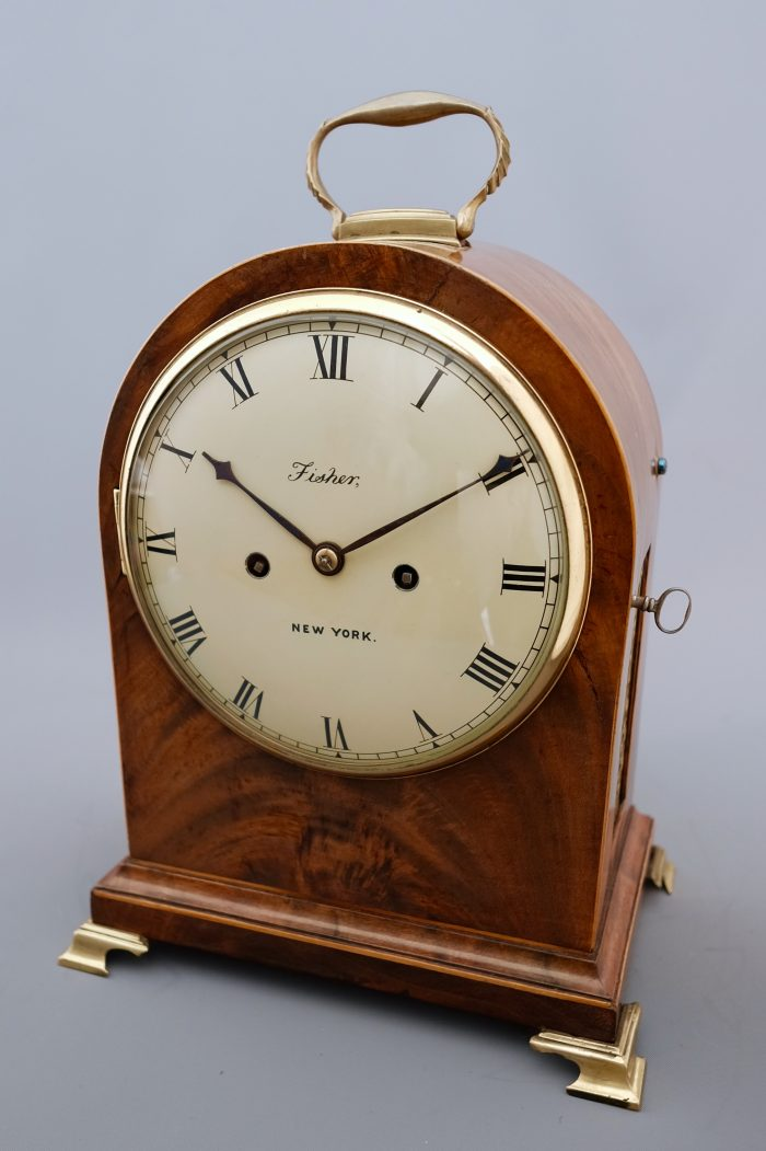 Regency mahogany striking bracket clock