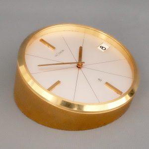 swiss gilt desk clock
