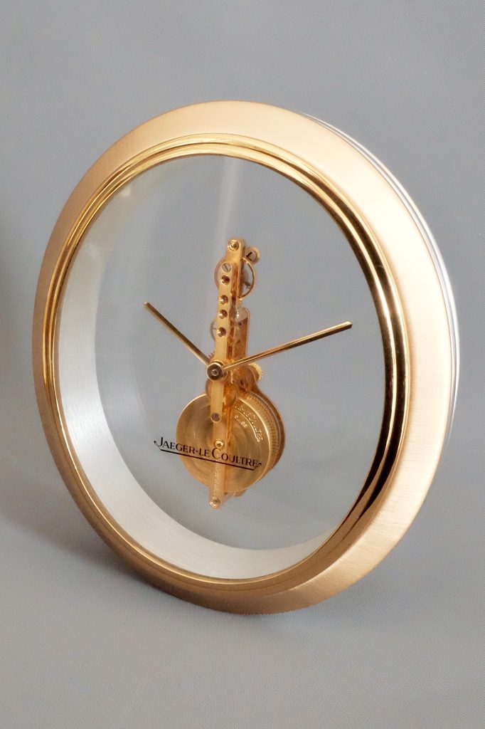 Jaeger Le-Coultre oval mid-century clock