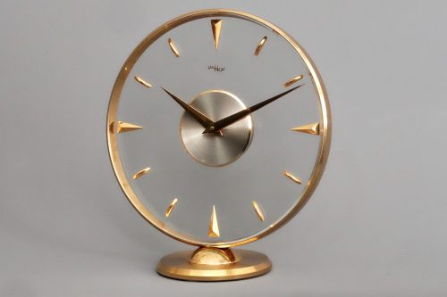 Imhof Mid-Century Swiss Desk Clock