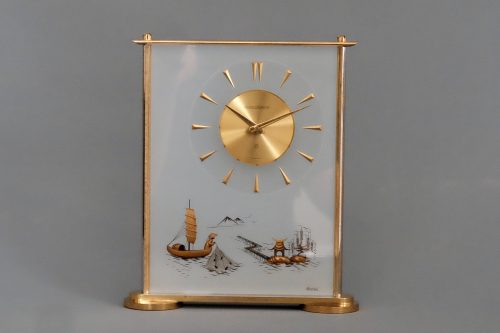 Jaeger LeCoultre Mid-Century Oriental Eight Day Desk Clock