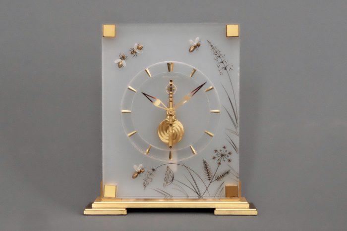 Jaeger Lecoultre mid century Swiss Jewelled Clock
