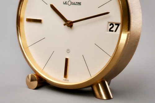 Jaeger LeCoultre 8 day Swiss alarm clock