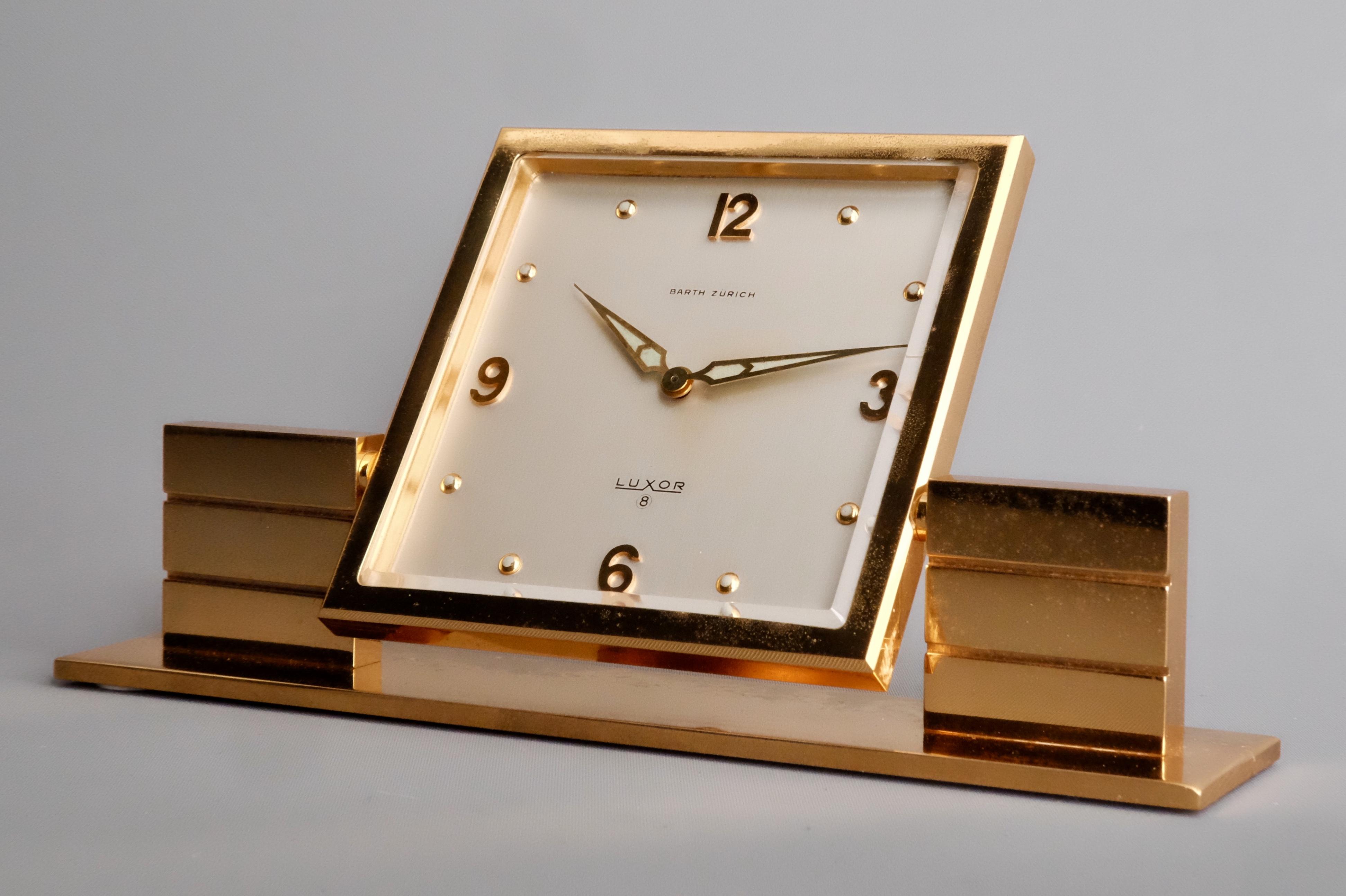 Luxor Mid Century Zurich desk clock