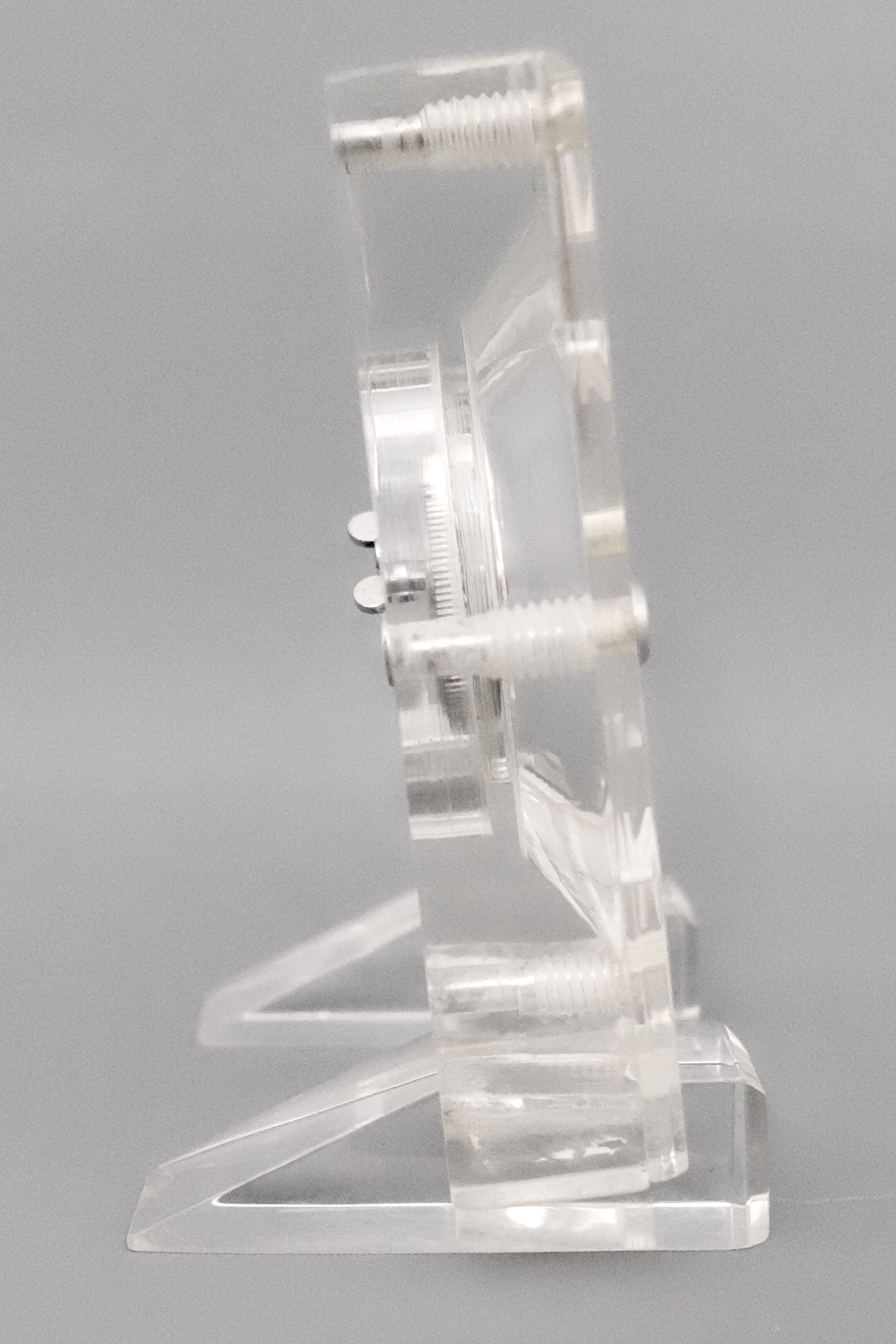 Jaeger LeCoultre Mid Century Lucite Skeleton Clock