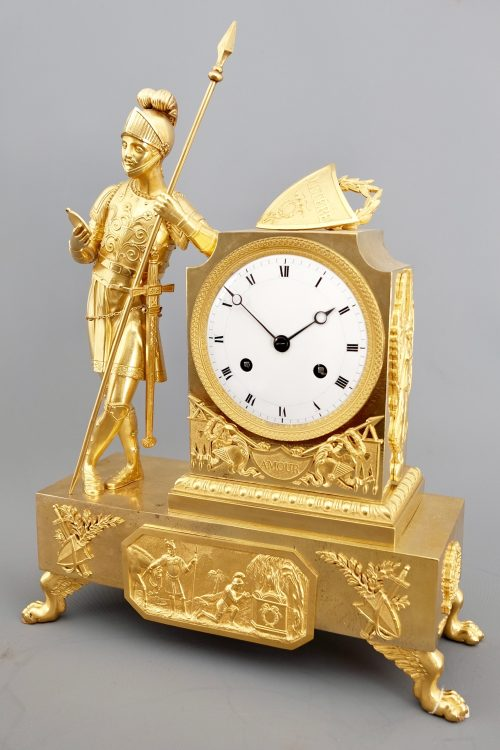 French Striking Figural Mantel Clock