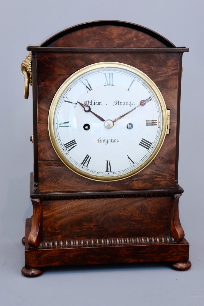 Antique Mahogany Small Bracket clock