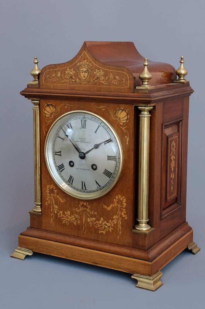 Edwardian Mahogany Striking Mantel Clock