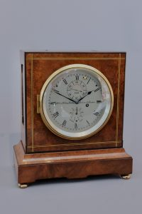 1930s brass strung walnut eight day chronometer
