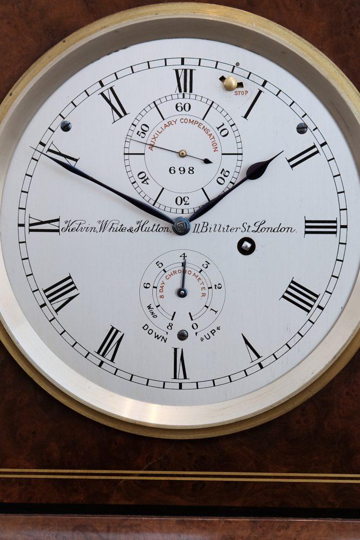Detail of 1930s brass chronometer