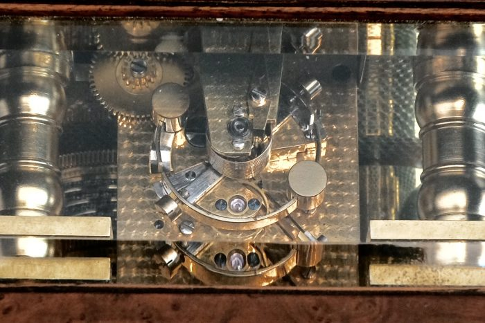 Detail of 1930s brass chronometer