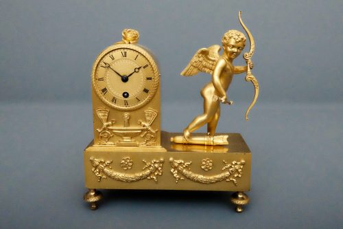French Empire Cherub Clock