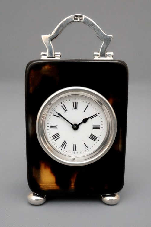 Tortoiseshell carriage clock