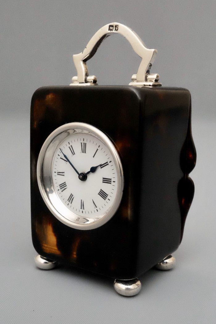 Tortoiseshell carriage clock