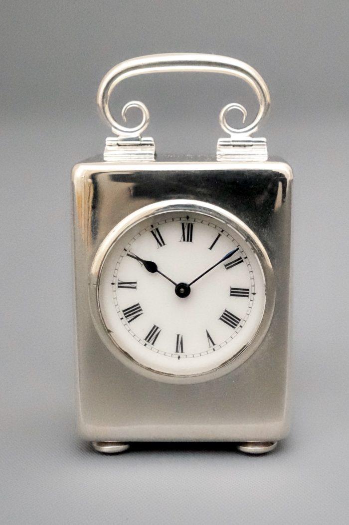 Silver miniature carriage clock