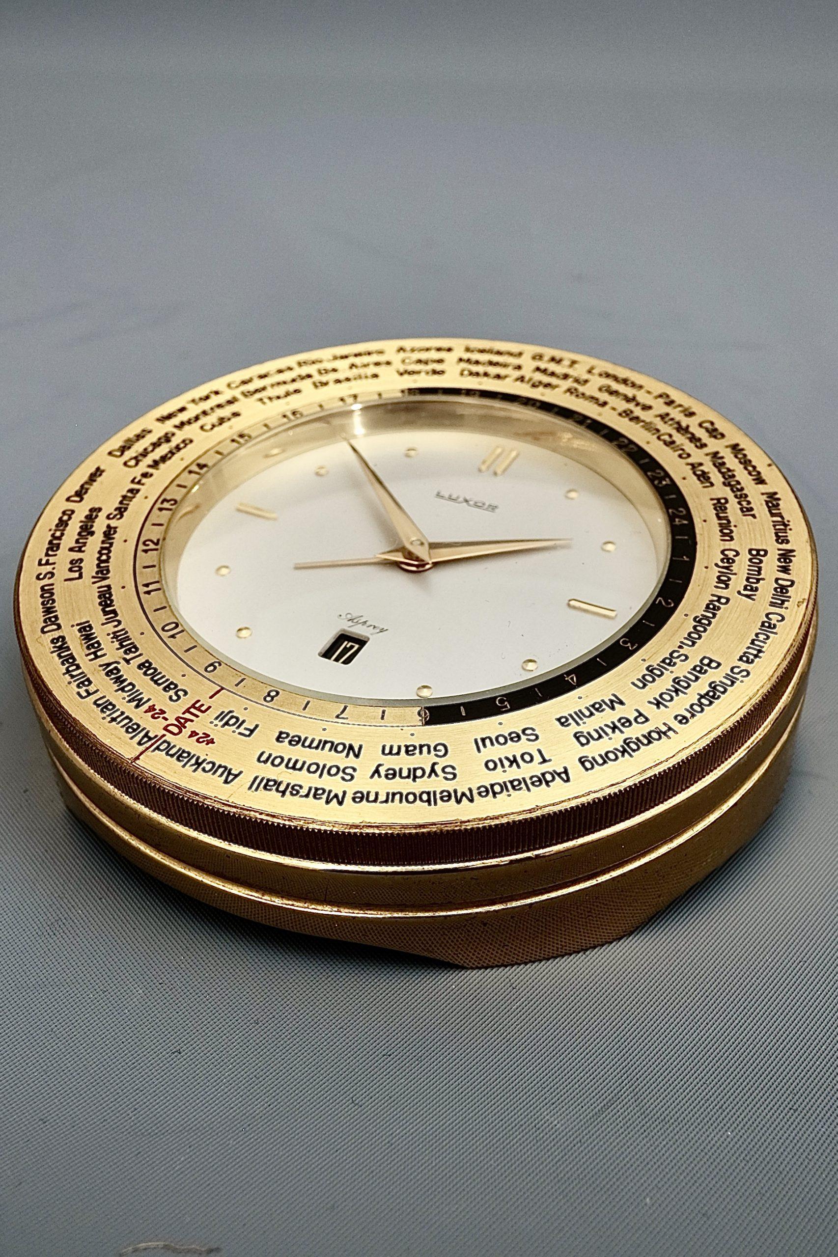 Luxor Mid Century World Clock