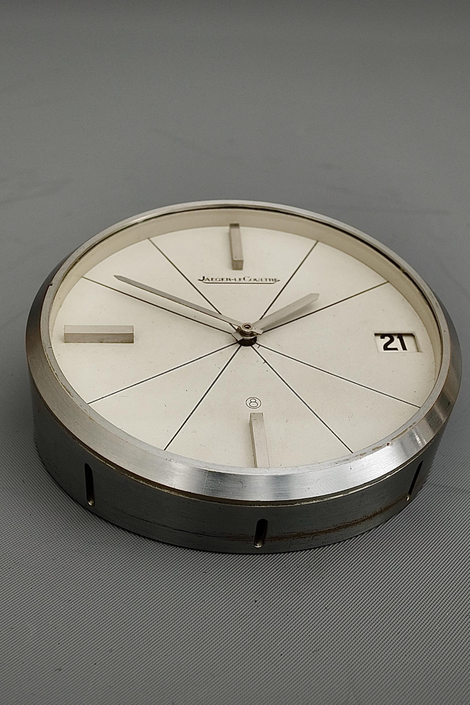 Jaeger LeCoultre Mid-Century Swiss Desk Clock