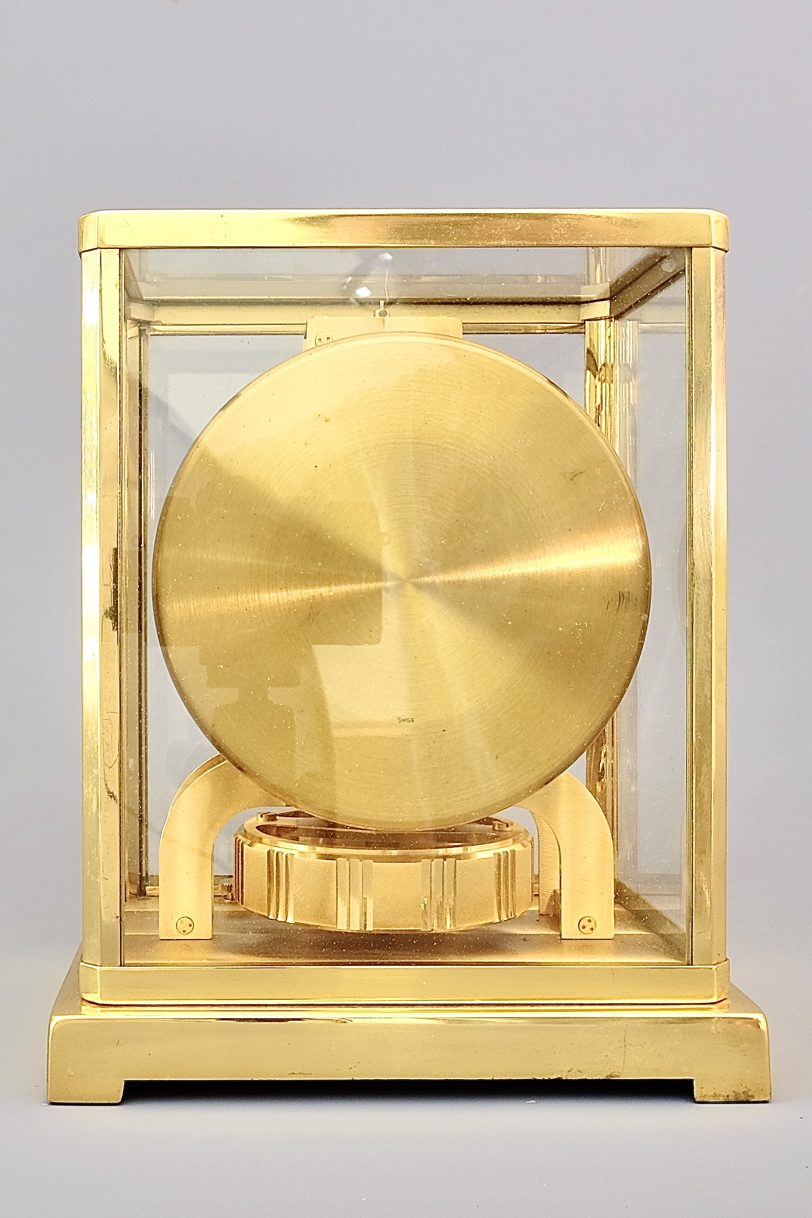 Midcentury LeCoultre Gold Atmos Clock