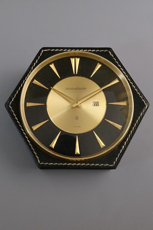Jaeger LeCoultre Leather Stitched Desk Clock