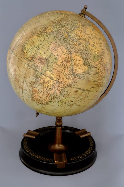 antique terrestrial globe