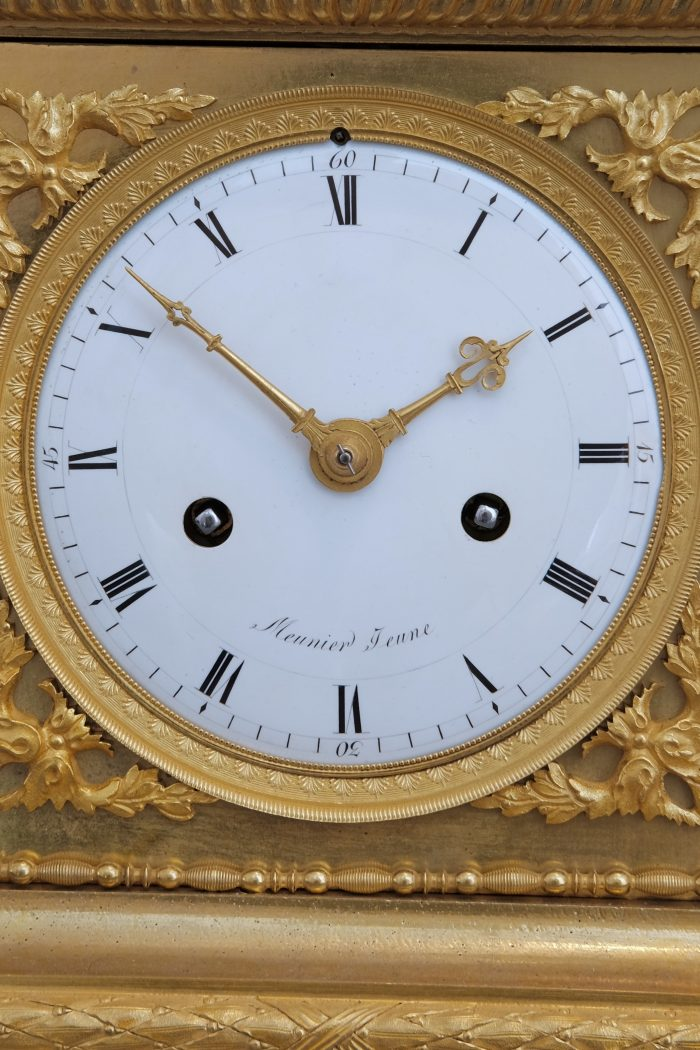 Eight day striking mantel clock