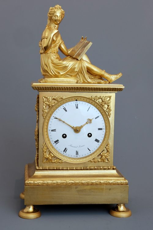 French empire ormulu clock