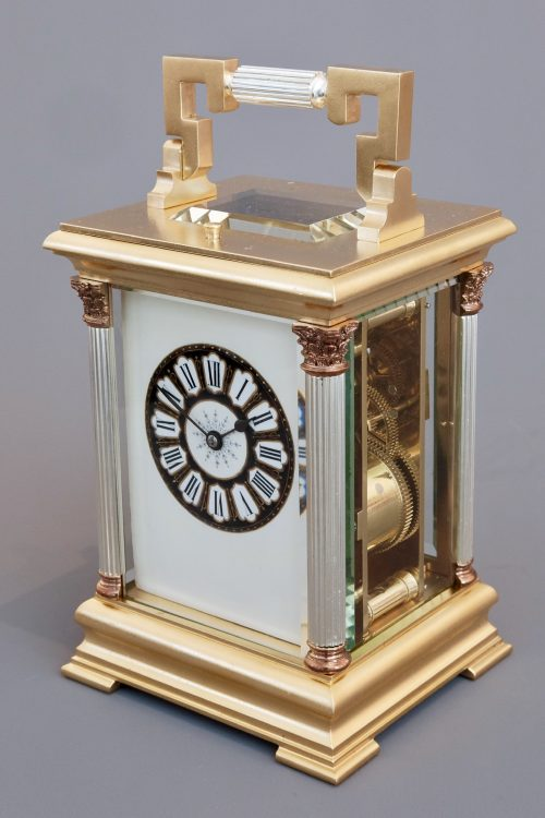 Antique French Striking Repeating Carriage Clock