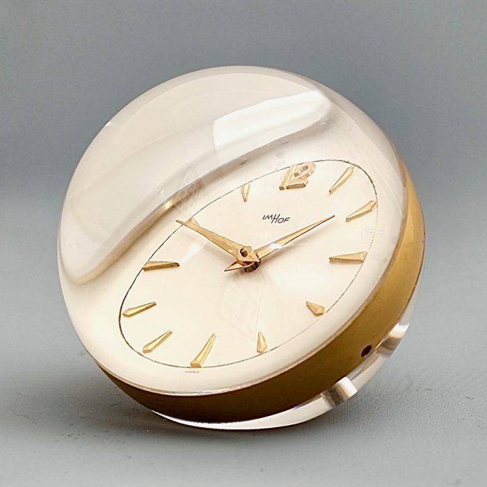 mid century globe desk clock