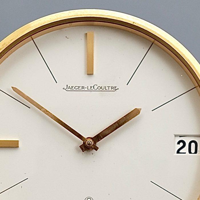 Jaeger LeCoultre Vintage Brass Desk Clock