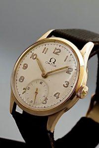 Omega 1950s 9 carat gold manual winding