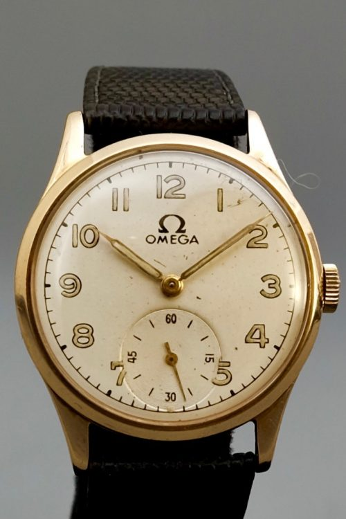 Omega 1950s 9 carat gold manual winding
