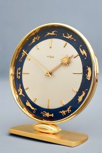 Imhof Zodiac Vintage Desk Clock