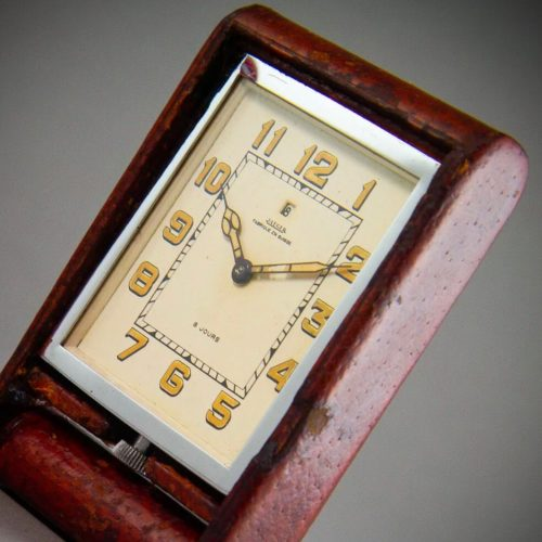 Mid Century Jaeger LeCoultre Swiss Travel Clock