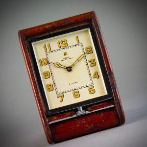 Mid Century Jaeger LeCoultre Swiss Travel Clock