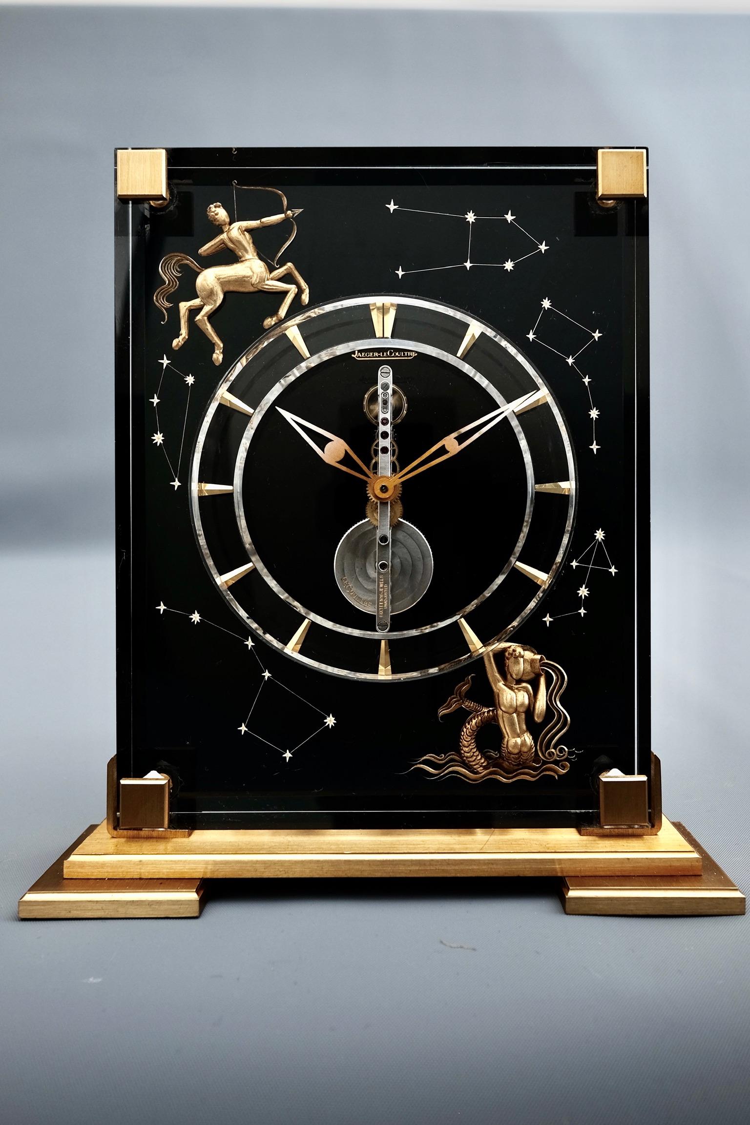 Jaeger LeCoultre Mid Century Marina Zodiac Desk Clock
