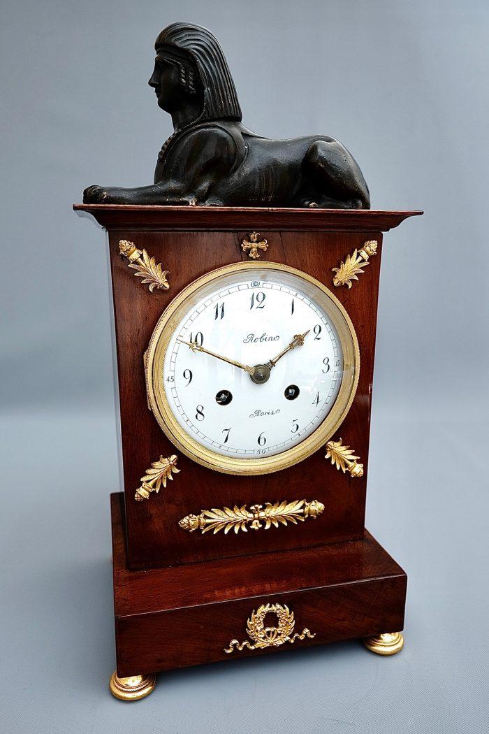French Empire Striking Ormolu Mantel Clock