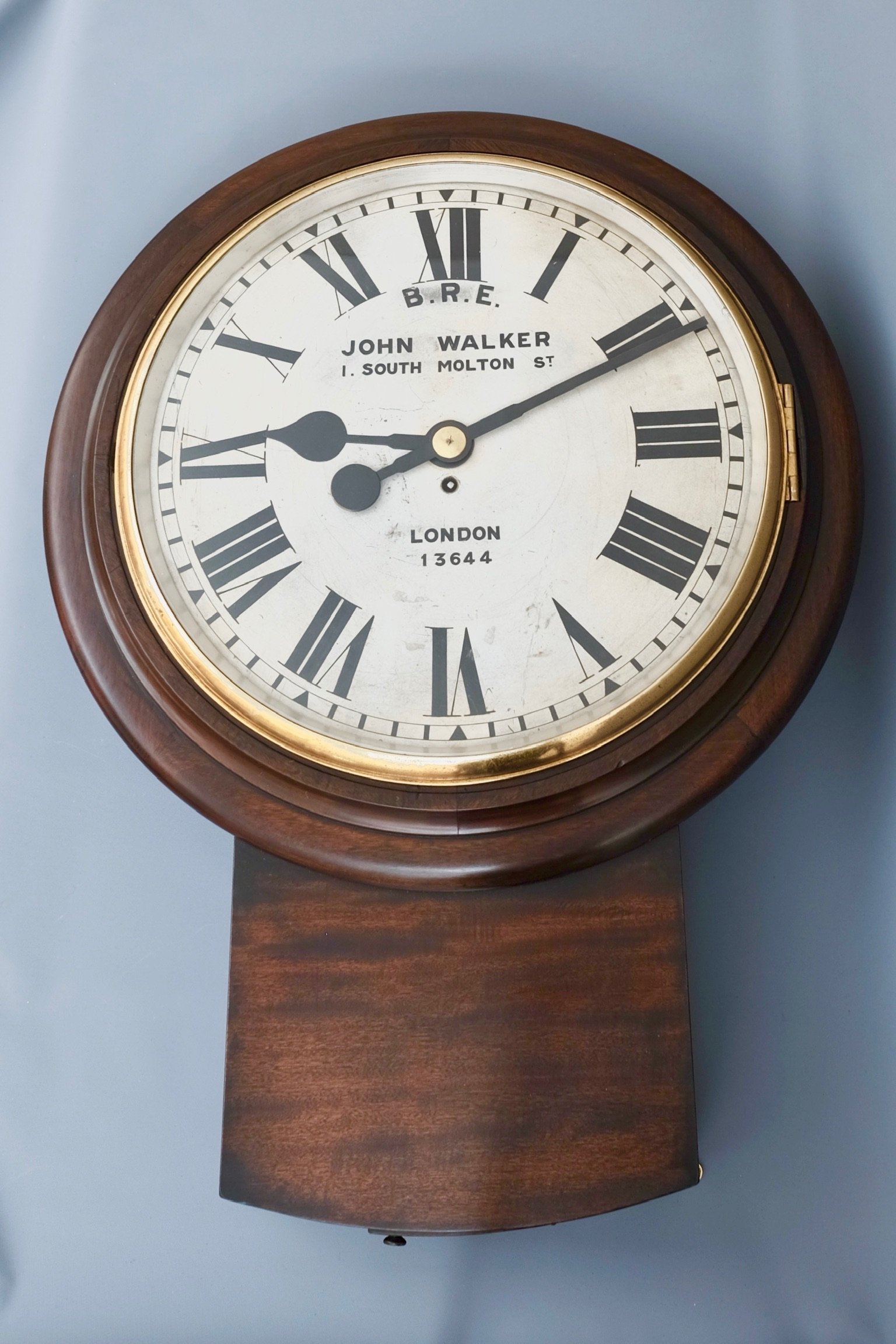 Victorian Antique Drop Dial Wall Clock
