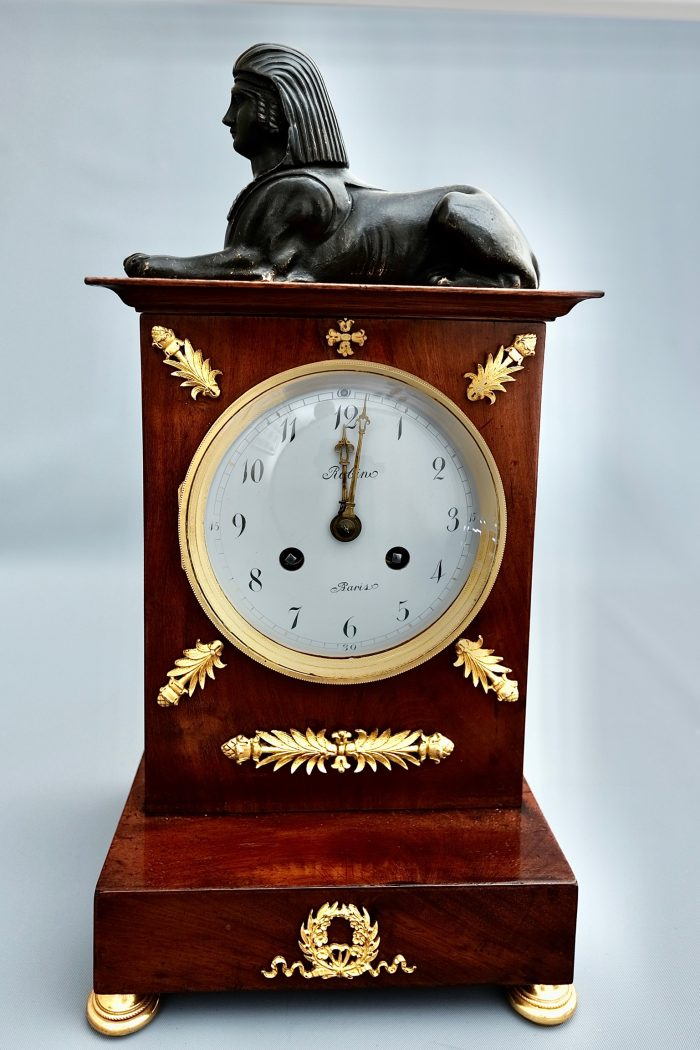 French Empire Striking Ormolu Mantel Clock