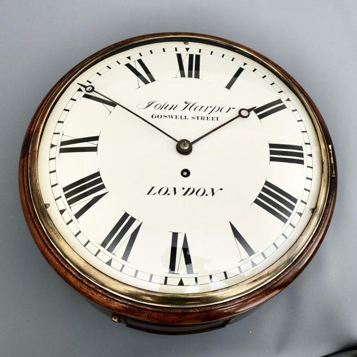 Victorian Antique mahogany dial clock