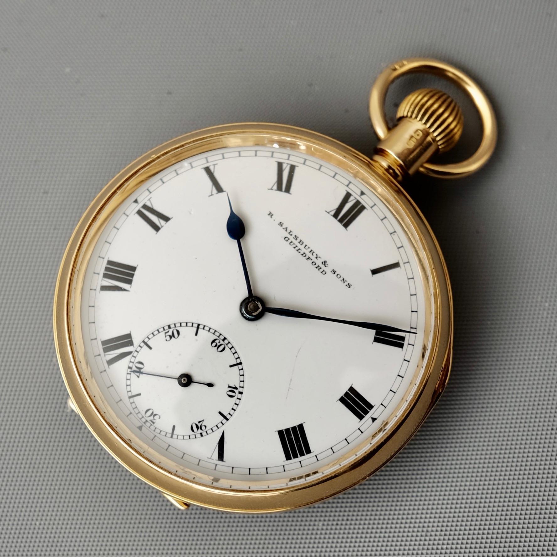 Antique 18 Carat Gold Pocket Watch