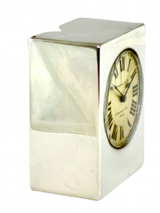Antique silver miniature Kendall carriage clock