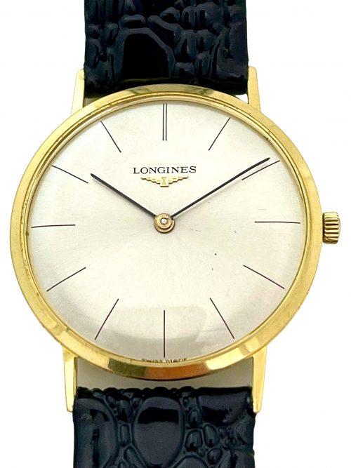 Longines ultra slim 18 carat gold wristwatch