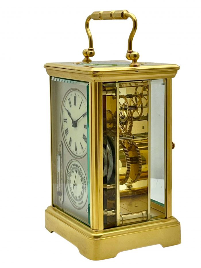 Antique French Timepiece Barometer Carriage Clock
