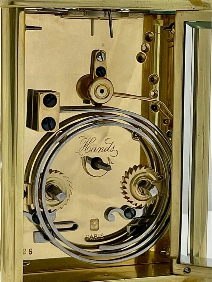 A French eight day striking and repeating carriage clock Henri Jacot, Paris