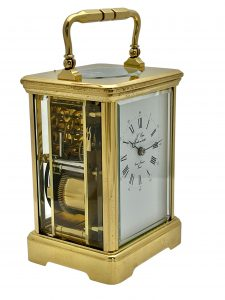 Antique French Eight Day Striking Carriage Clock