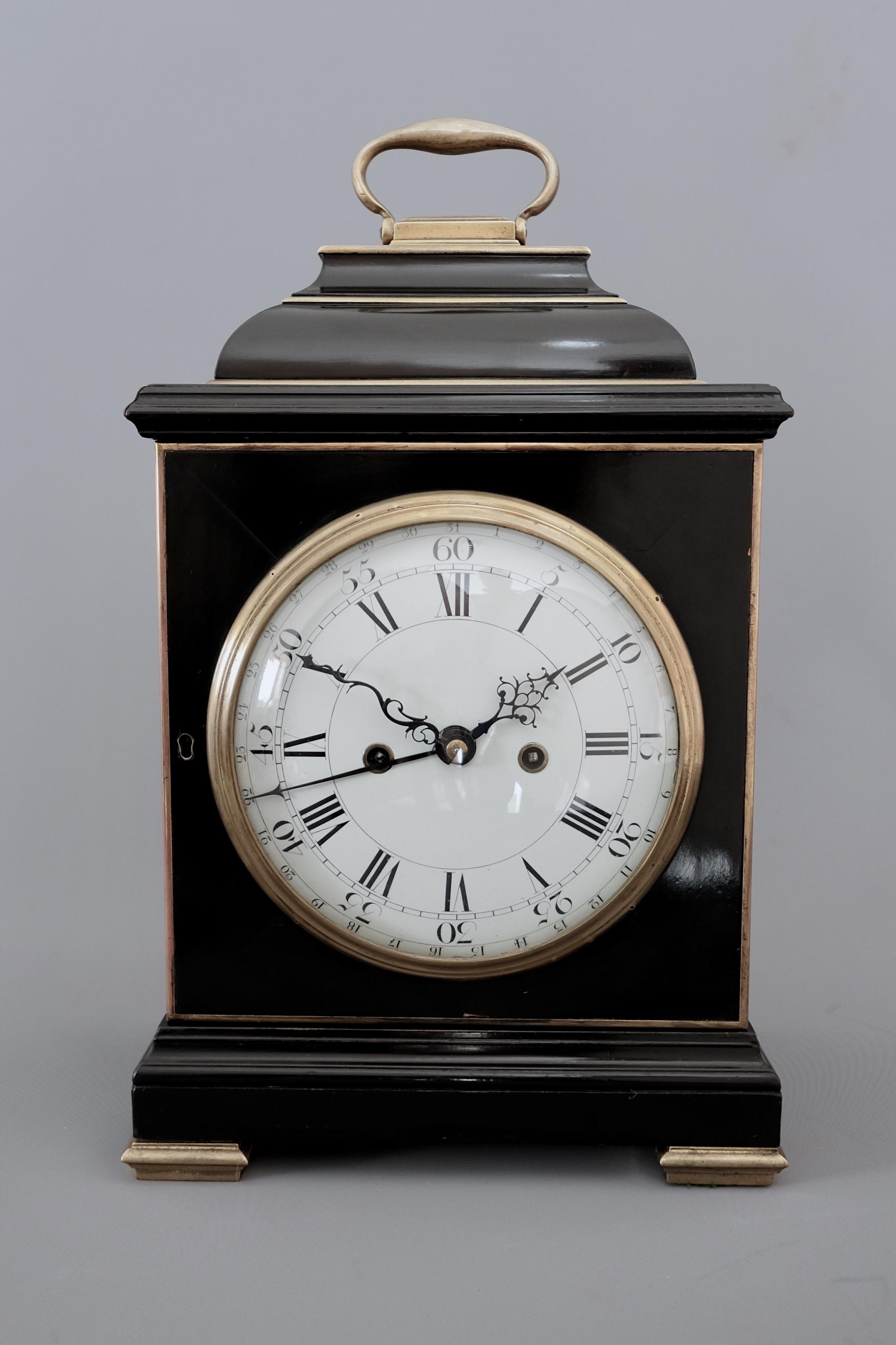 Georgian Bracket Clock Twin Fusee